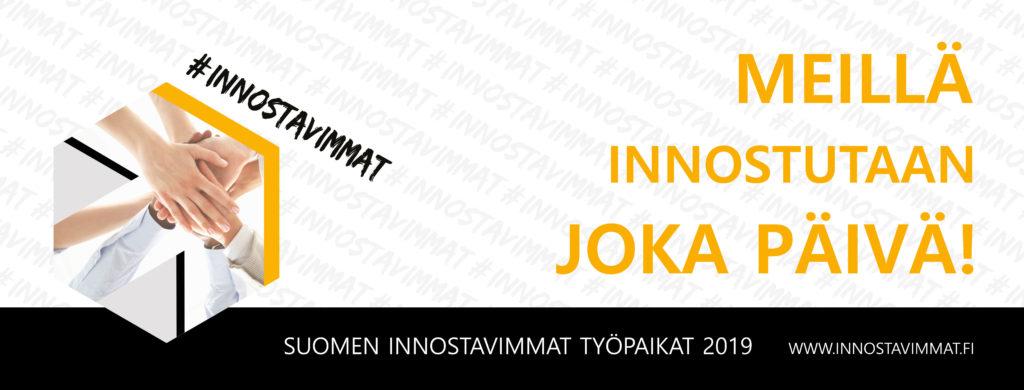 Meillä innostutaan joka päivä! Henkilöstötutkimuksen tulosten perusteella Merimieskirkko on yksi Suomen innostavimmista työpaikoista vuonna 2019.
