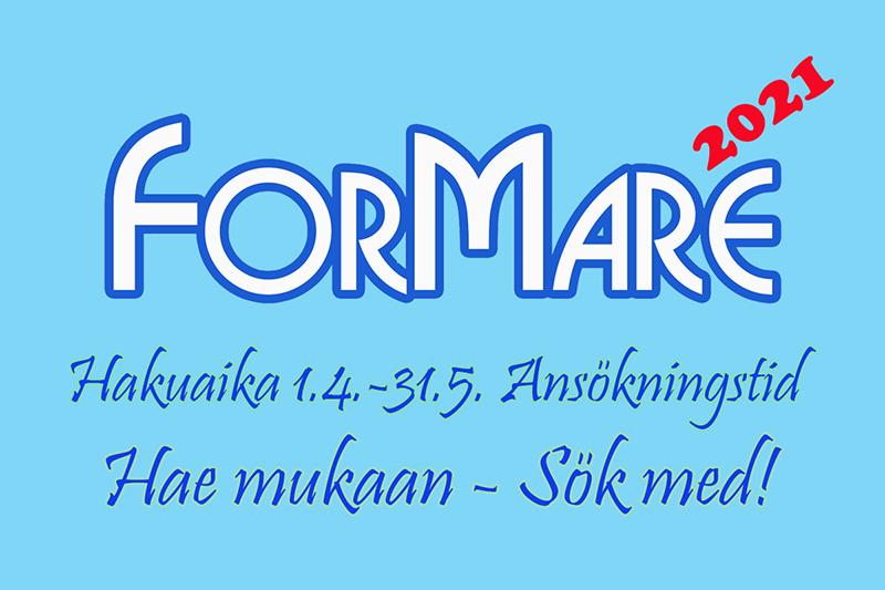 """""""Formare 2021 banneri tekstillä: hakuaika 1.4.-31.5."""""""