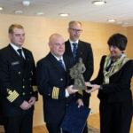 Merenkulun turvallisuuspalkinto 2017 M/V Norstreamin miehistölle