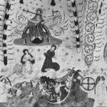 Lohjan Pyhän Laurin kirkon alttariseinän sarjakuvamainen maalaus kuvaa viimeistä tuomiota.